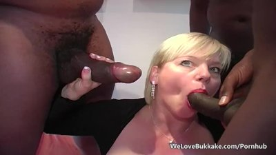Busty mature allows anal from huge ebony cocks