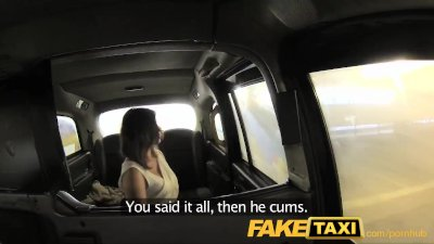FakeTaxi Office romance revenge with London cab driver