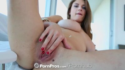 Preview 3 of Pornpros - Guy Puts His Dick Between Busty Dillion Carters Perfect Boobs