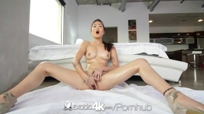 Preview 5 of Exotic4k - Asian Babe, Lea Hart, Sucks And Fucks Her Man