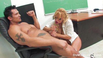 Bad schoolgirl Shyla gets fucked by her teacher