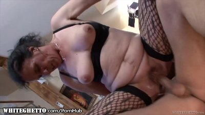 Preview 1 of Whiteghetto Hairy Granny Buttfucking