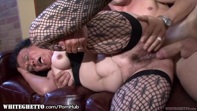 Preview 5 of Whiteghetto Hairy Granny Buttfucking