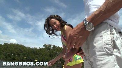 Preview 1 of Bangbros - Amia Miley Fishing For A Big Ebony Cock (mc5577)