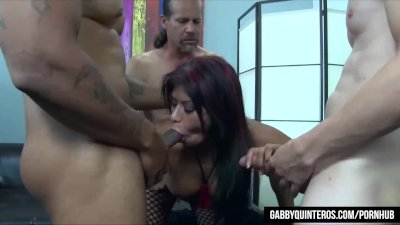 Gabby Quinteros Gets All the Dick in Hardcore Gangbang!