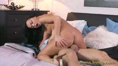 Dane Jones Horny black haired Russian has creampie fuck with her lover