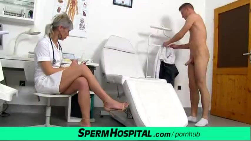 Preview 2 of Cfnm Penis Medical Checkup With Gorgeous Czech Milf Doctor Beate