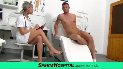 Preview 3 of Cfnm Penis Medical Checkup With Gorgeous Czech Milf Doctor Beate