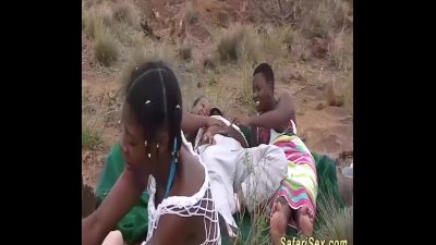 Preview 3 of African Outdoor Groupsex Orgy