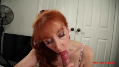 Preview 1 of Milf Red Sucked And Fucked Her Way To Orgasm After Orgasm