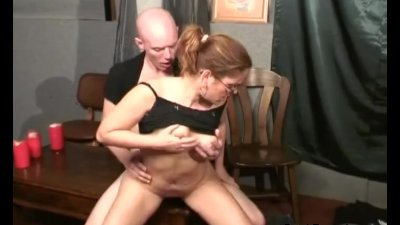 She wanted to fuck her harder and spread his cum into her big boobs