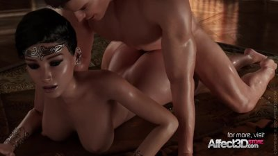 ebony hair princess blowjob animation