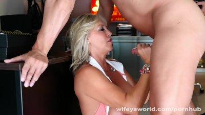 Wifey Blows MasterBlaster And Hub For Jizz