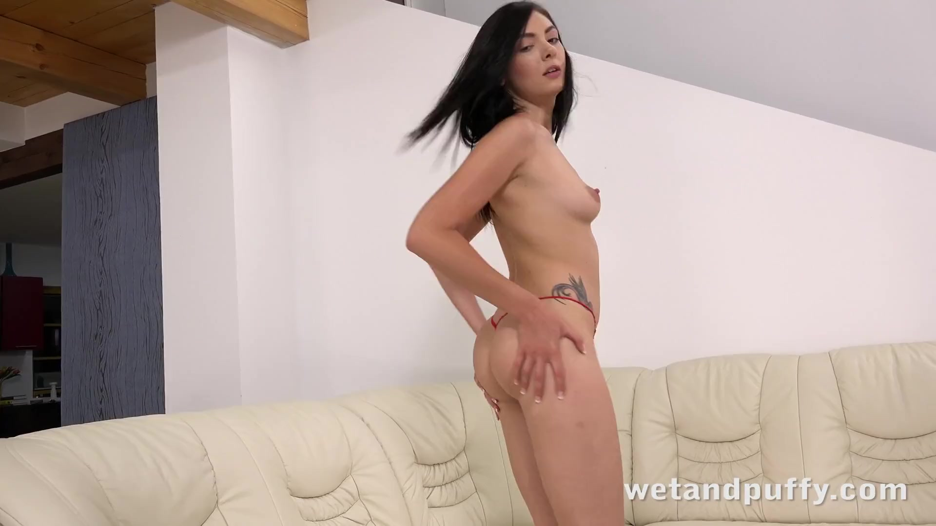 Preview 2 of Wetandpuffy - Marley Brinx Orgasms While Playing With Sex Toys