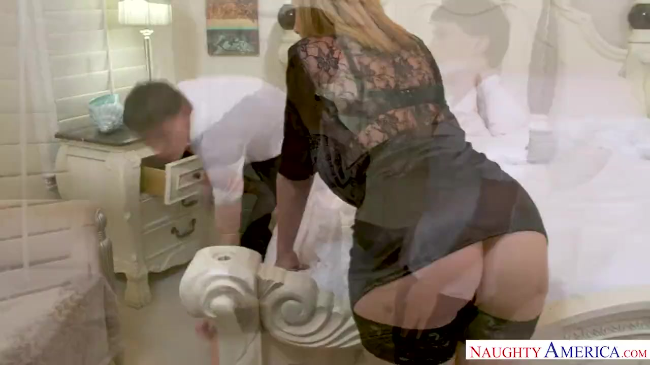Preview 5 of Milf Sara Jay Punishes Her Son's Friend With Her Pussy!
