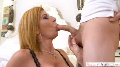 Preview 6 of Milf Sara Jay Punishes Her Son's Friend With Her Pussy!