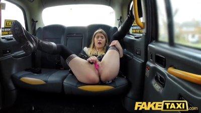 Fake Taxi Horny hot student desires drivers big dick again