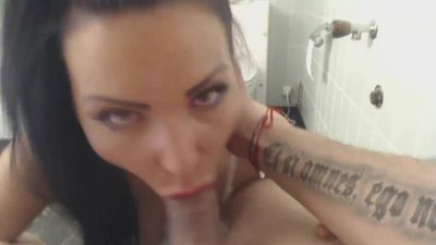 Preview 6 of Amazing Girl Fuck In Bathroom, Suck And Swallow A Load Of Cum