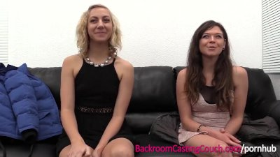 Preview 2 of Bff Lesbian And Anal Casting Threeway