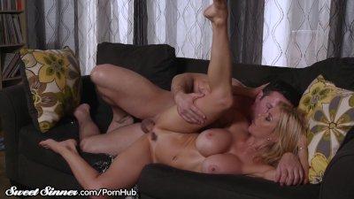 Big Tits MILF Alexis Fawx Sucks Balls & Gets Drilled