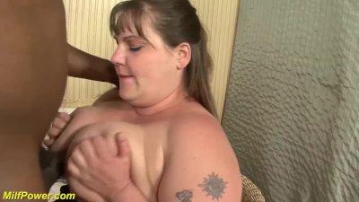 bbw moms first interracial sex