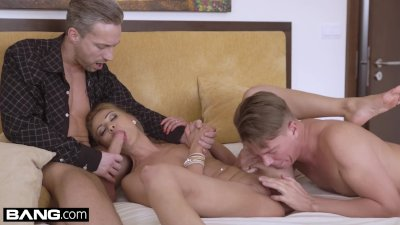 Glamkore - Cherry Kiss fucks her husband and his assistant