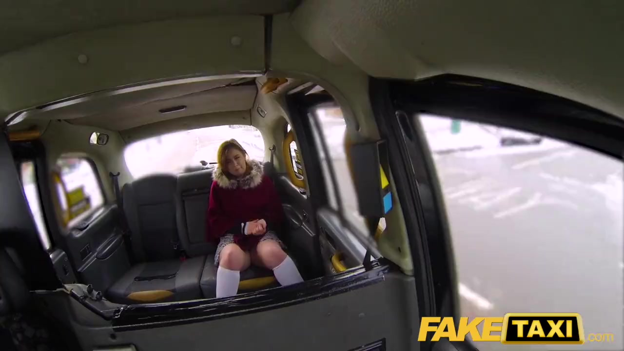 Preview 3 of Fake Taxi Sexy Redhead Hot Taxi Suck And Fuck On A Snowy Day