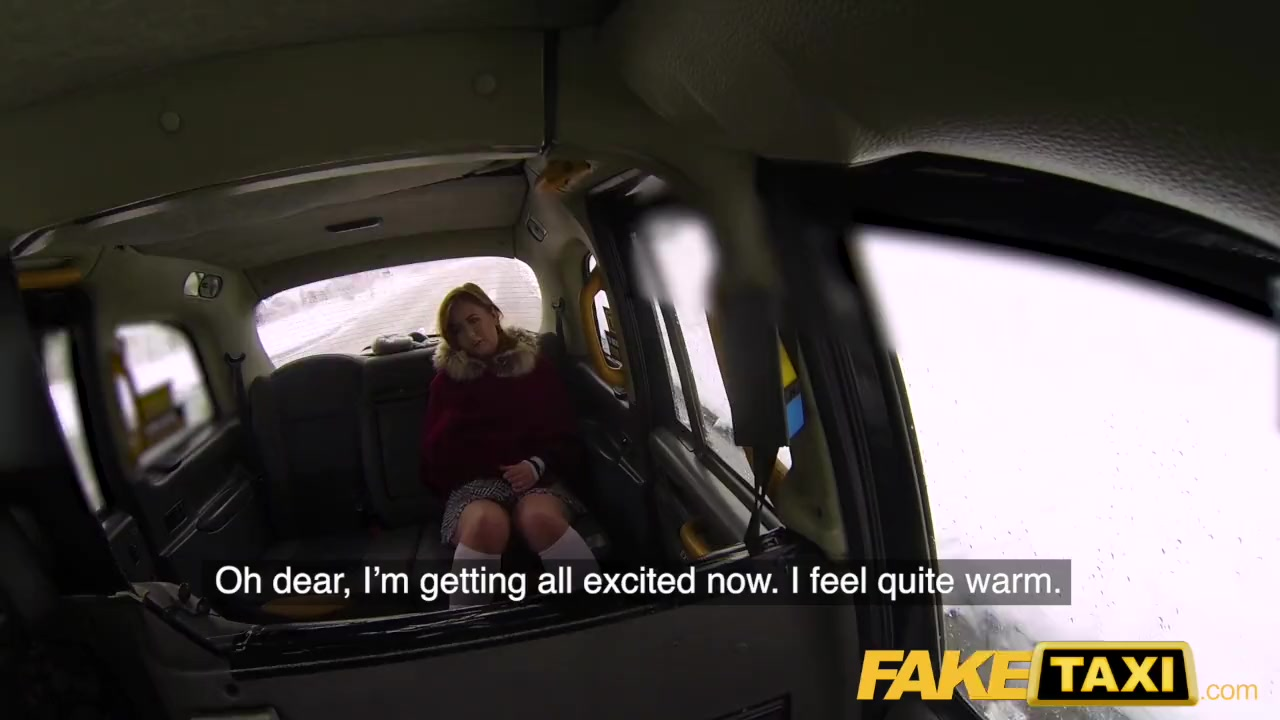 Preview 5 of Fake Taxi Sexy Redhead Hot Taxi Suck And Fuck On A Snowy Day