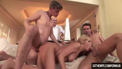 Blonde Housewife Darcy Tyler Is Fucked by Her Husband and a Stranger