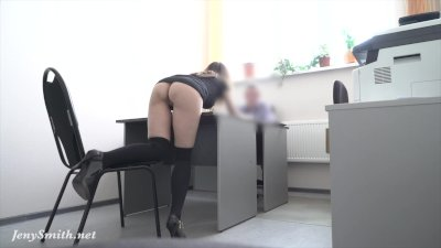 Hidden cam! Strips at REAL job interview