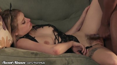 SweetSinner Giselle Palmer Plays Kitty for her BBC Daddy!