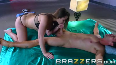 Preview 2 of Brazzers - Angelina Valentine Loves Sports And Cock Sucking