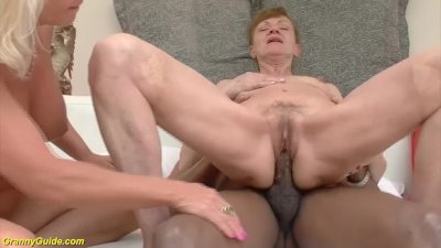 Preview 3 of 71 And 82 Years Old Grannies Interracial Anal Banged