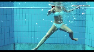 Preview 1 of Hungarian Teen Szilva Underwater Naked