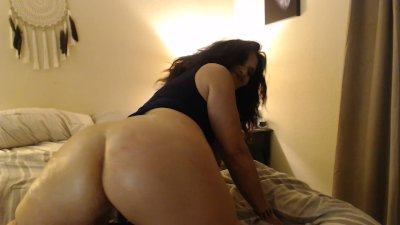 RUBBING LOTION all over my mature natural tits, wrinkled feet and big ass