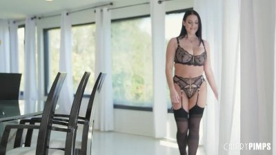 Preview 1 of Busty Raven Haired Babe In Classy Lingerie Solo Masturbating With Toys