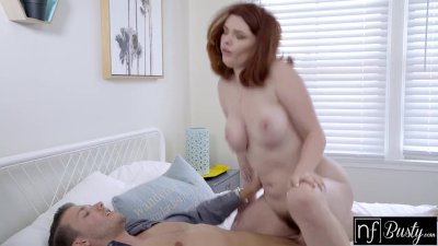 Preview 6 of Big Titty Red Headed Teen With Braces Jerks Me Off And Fucks Like A Champ