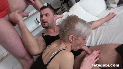 Granny Lives her Bisex DP Fantasy
