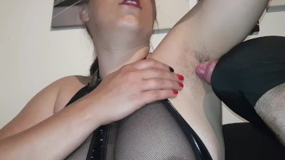 Femdom slave  clean my sweaty hairy armpit