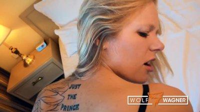 Foxy blonde CLAUDIA SWEA needs a good fucking! WOLF WAGNER wolfwagner.love