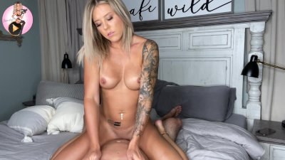 4k - So, you're going to tease me? Blonde Rides Til She Cums