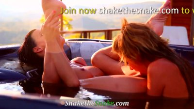 Shake The Snake - Girl on Girl Action with Super Hot amateur