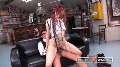 JezziCat follows stranger to get fucked! WOLF WAGNER
