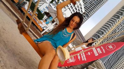 NO PANTIES at Beach Party # Flashing in Public