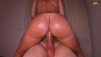 PAWG KEEPS RIDING BIG COCK AFTER HE CUMS   DOUBLE CREAMPIE