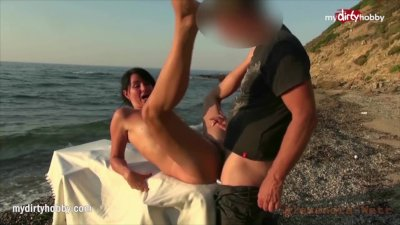 Preview 4 of Mydirtyhobby - 5 Guys Take Turns On Gorgeous Milf At The Beach