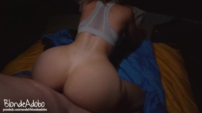 Fucking In Tents Camping Sextape POV Doggystyle with Hot College Girlfriend - BlondeAdobo