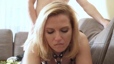teaches blindfold stepson anal fetish