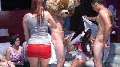 DANCING BEAR - Lascivious Ladies With Loose Morals Sucking & Fucking During CFNM Parties!